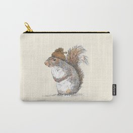 Squirrel with an Acorn Hat Carry-All Pouch