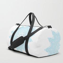 Moonlight Blue Mandala Bohemian Decor Medallion Duffle Bag