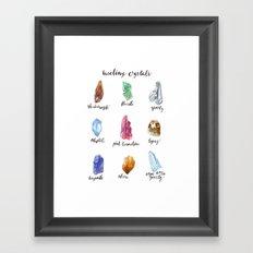 Healing Crystals Framed Art Print