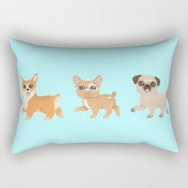 Three puppies Rectangular Pillow