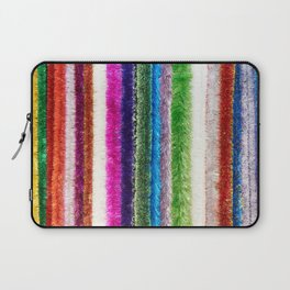 Colorful tinsel Christmas Laptop Sleeve