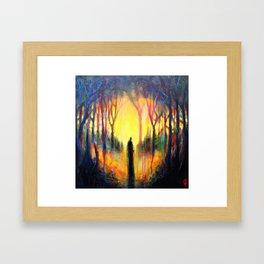 Heart Fire Framed Art Print