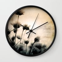 wild things Wall Clocks featuring wild things by Dorit Fuhg