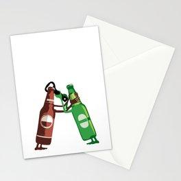 War of the beer bottles Stationery Cards