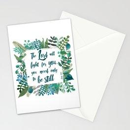Exodus 14:14 Stationery Cards