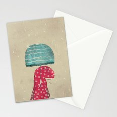 its raining again Stationery Cards