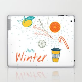 Hello Winter! Cup of warm winter drink Laptop & iPad Skin