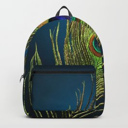 exotic feather  Backpack