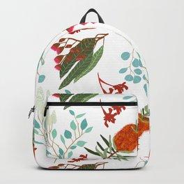 Australian Botanicals - White Backpack