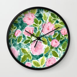 Roses in Bloom Wall Clock