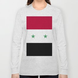 Syria flag emblem Long Sleeve T-shirt