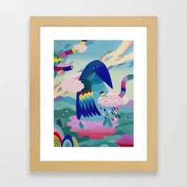 Blue Bird Framed Art Print