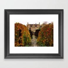 Barnsley House In Autumn Framed Art Print