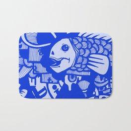 Aqua Blue Bath Mat