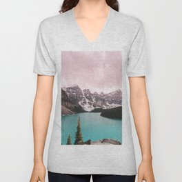 Moraine Lake Banff National Park Unisex V-Neck