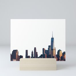 Skylines of New York, Chicago and Los Angeles Mini Art Print