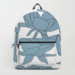 Roses in Blue Backpack