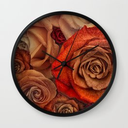 """Bouquet of fantasy roses (Fairy tale)"" Wall Clock"