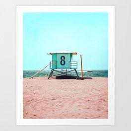 California Lifeguard Tower Art Print