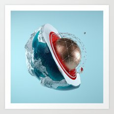 Planet Core Art Print