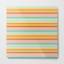 Over Striped Metal Print