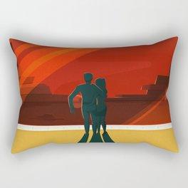 THE MOONS OF MARS - Phobos & Deimos   Space   X   Retro   Vintage   Futurism   Sci-Fi   Two Rectangular Pillow