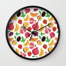 Fresh Fruit Portrait Wall Clock