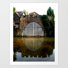 Boat House on the Bridgewater Canal  Art Print