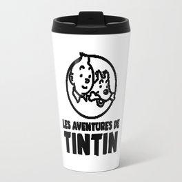 tintin les adventure Travel Mug