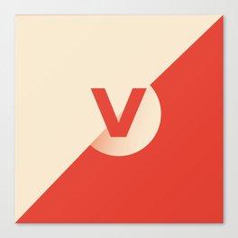 Vermilion - V Canvas Print