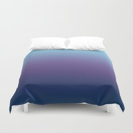 Ombre Blue Ultra Violet Gradient Pattern Duvet Cover