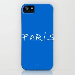 Paris 2 blue iPhone Case