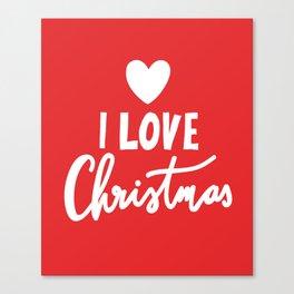 I LOVE CHRISTMAS Canvas Print