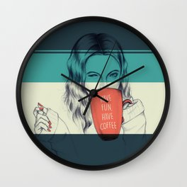 Have Coffee Wall Clock