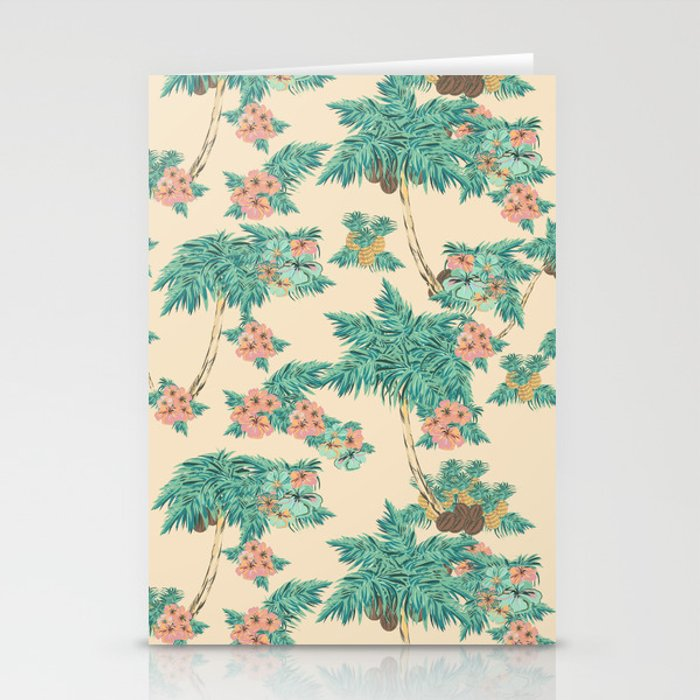 Aloha peach Stationery Cards