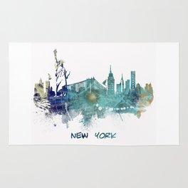 New York City Skyline blue Rug