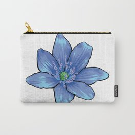 Blue Gentian Flower Carry-All Pouch