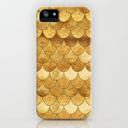 Golden Scales iPhone Case