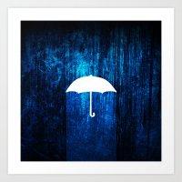 umbrella Art Prints featuring umbrella by Darthdaloon