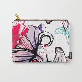 Splashy Flowers Carry-All Pouch