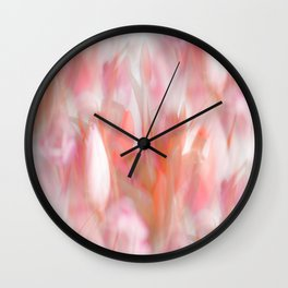 Pink Tulips Abstract Nature Spring Atmosphere Wall Clock