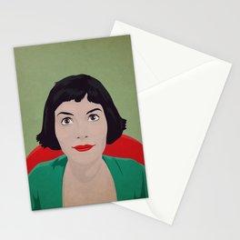 Amelie, minimalist poster, film canvas, retro framed, Audrey Tautou poster, illustration Amelie Stationery Cards