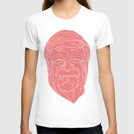 John Goodman in pink and white. T-shirt