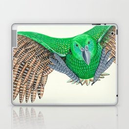 Kakapo in flight Laptop & iPad Skin