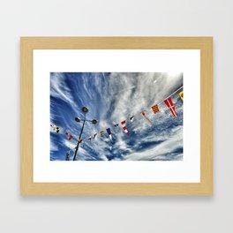 summer flags Framed Art Print
