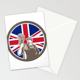 British Industrial Cleaner Union Jack Flag Icon Stationery Cards