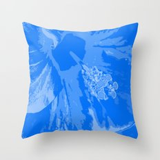 Intimate blue Throw Pillow