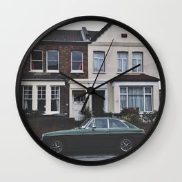home with car Wall Clock