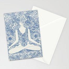 lotus garden vintage blue Stationery Cards