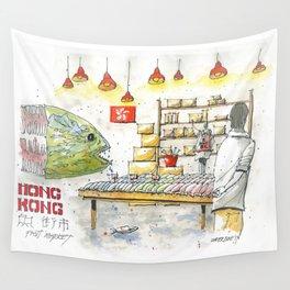 Hong Kong Fish Market Wall Tapestry